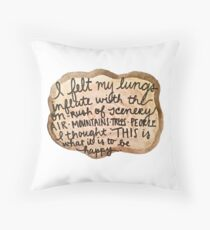 Sylvia Plath Happy Tree Ring Quote Throw Pillow