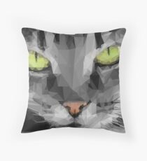 Graphical Cat Throw Pillow