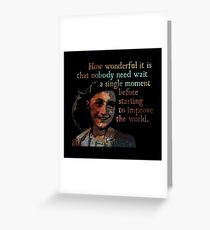 A Single Moment - Anne Frank Greeting Card
