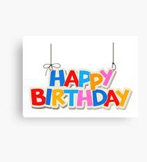 Happy Birthday Canvas Print