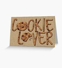 Cookie Lover Delicious Chocolate Chip Yummy Burlap Greeting Card