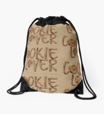 Cookie Lover Delicious Chocolate Chip Yummy Burlap Drawstring Bag