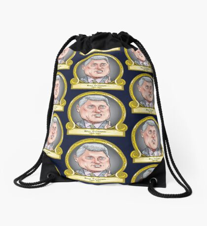 President Bill Clinton Drawstring Bag