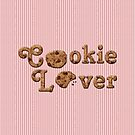 Cookie Lover Delicious Chocolate Chip Pink Stripes by Beverly Claire Kaiya