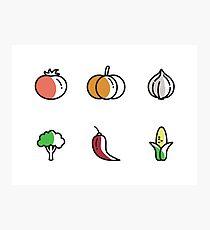 Fresh Vegetables Photographic Print