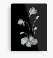 Ink flower negative Metal Print