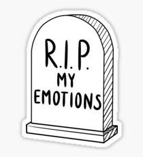 HIPSTER EMOTIONALLY DEAD Sticker