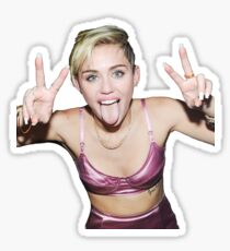 Funny Miley Cyrus - tri Sticker