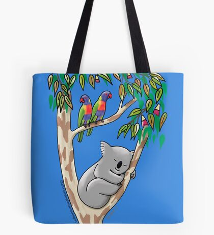 Sweet Dreams Sleeping Koala Tote Bag