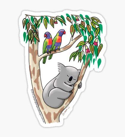 Sweet Dreams Sleeping Koala Sticker