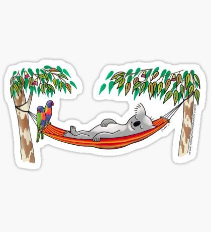Hammock Sleeping Koala - Sweet Dreams Sticker