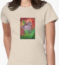 Two Tulips Happy Birthday Greeting T-Shirt
