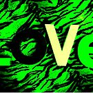 LOVE in green by ©The Creative  Minds