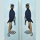 Yellow-tail Black Cockatoo Partners by Marta Lett
