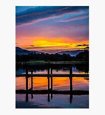 Bowness sundown Photographic Print