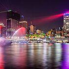 BRIS1.     Brisbane Laser Show. Queensland, Australia. by Karen Duffy