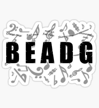 Bass Player Sticker