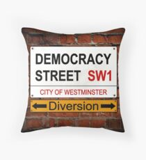 Diverted Democracy Throw Pillow