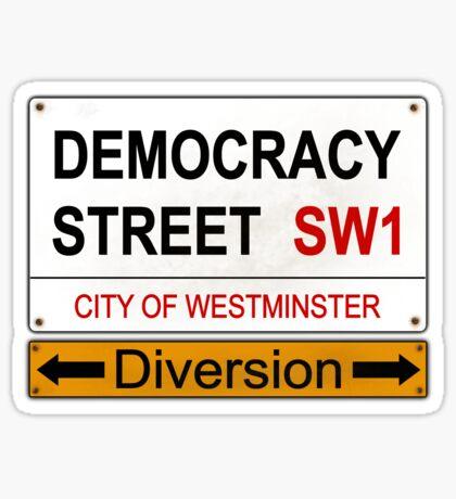 Diverted Democracy Sticker