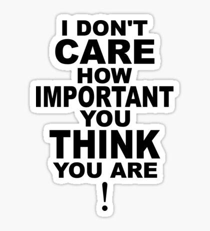 I don't care..... Sticker
