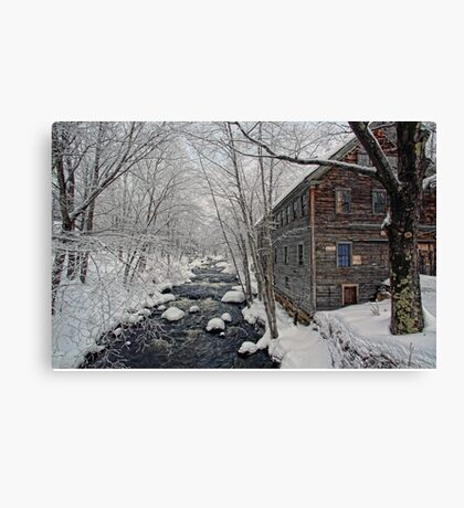 -The Old Mill On Stevens' Brook- Canvas Print