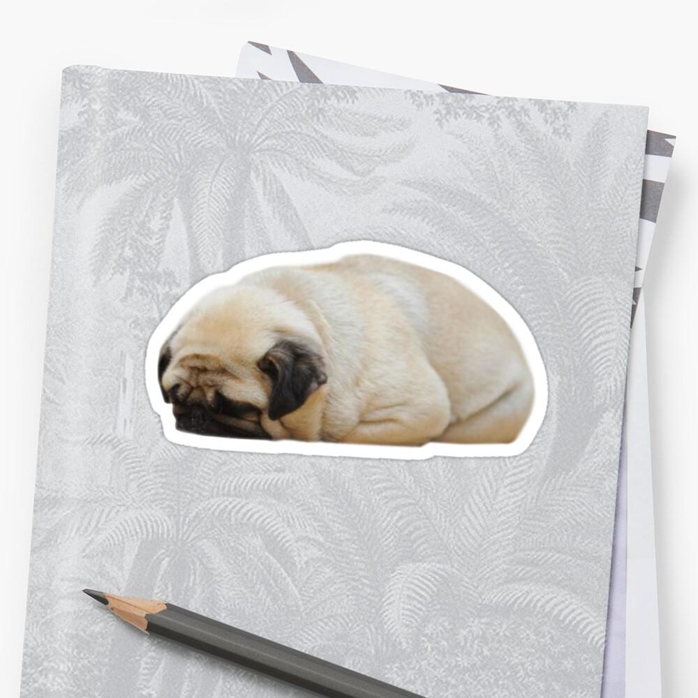 schläfriger Mops Sticker