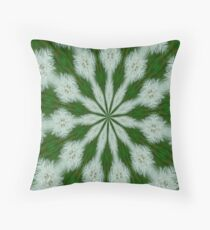 Taraxacum Officinale Seed Abstract Kaleidoscope Throw Pillow