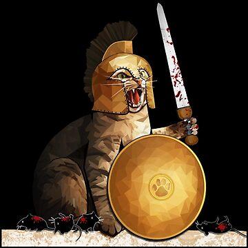 Spartan cat by Cristianvan