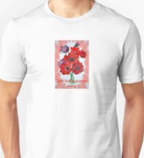Good Luck In Your New Venture Anemone Greeting Unisex T-Shirt