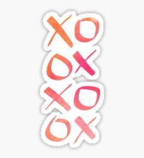 xoxo Watercolor Pink Orange Sticker