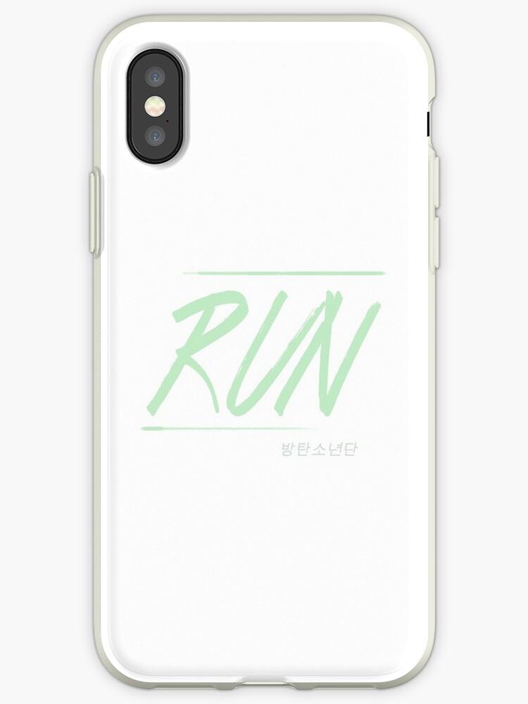 'BTS RUN' iPhone Case by taewithkookies