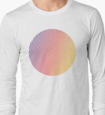 vaporwave sphere Long Sleeve T-Shirt