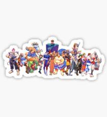 Street Fighter Collage Sticker