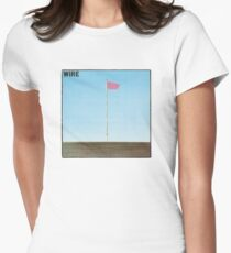 Wire - Pink Flag Shirt Womens Fitted T-Shirt