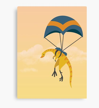 Patagonykus is Parachuting Canvas Print