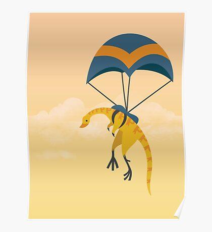 Patagonykus is Parachuting Poster