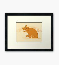 Uintatherium is Upbeat Framed Print
