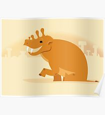 Uintatherium is Upbeat Poster
