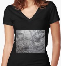 Crystal Sky Women's Fitted V-Neck T-Shirt