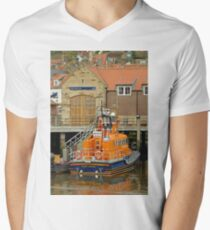 Whitby Lifeboat and Lifeboat Station Men's V-Neck T-Shirt