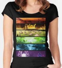 Korra Spirits (Any Color!) Women's Fitted Scoop T-Shirt