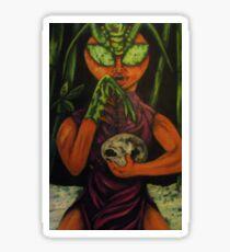 """Miss Morphing Mantis"" Sticker"