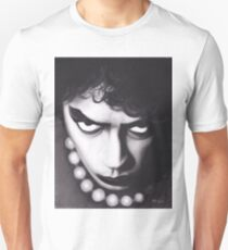 Realism Charcoal Drawing of Tim Curry as Frank N Furter in Rocky Horror Picture Show T-Shirt