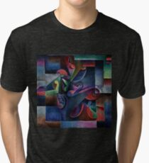 An Explosion of Color - Curving Machine by Molzahn Tri-blend T-Shirt