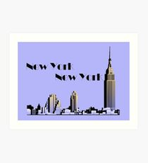 New York New York skyline retro 1930s style Art Print