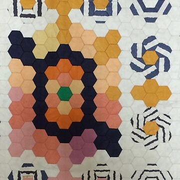 Hexagon Patchwork Detail of Nautical Sailor by Jackie Wills by jackiewills