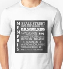 Memphis Famous Landmarks Unisex T-Shirt