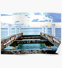 Sunset Pier at Grace Bay Poster