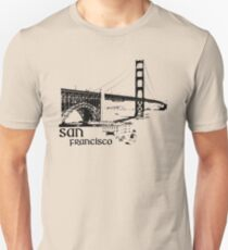 san francisco, golden gate bridge T-Shirt