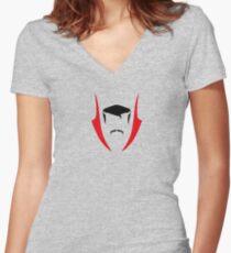 Flat Doctor Strange Women's Fitted V-Neck T-Shirt